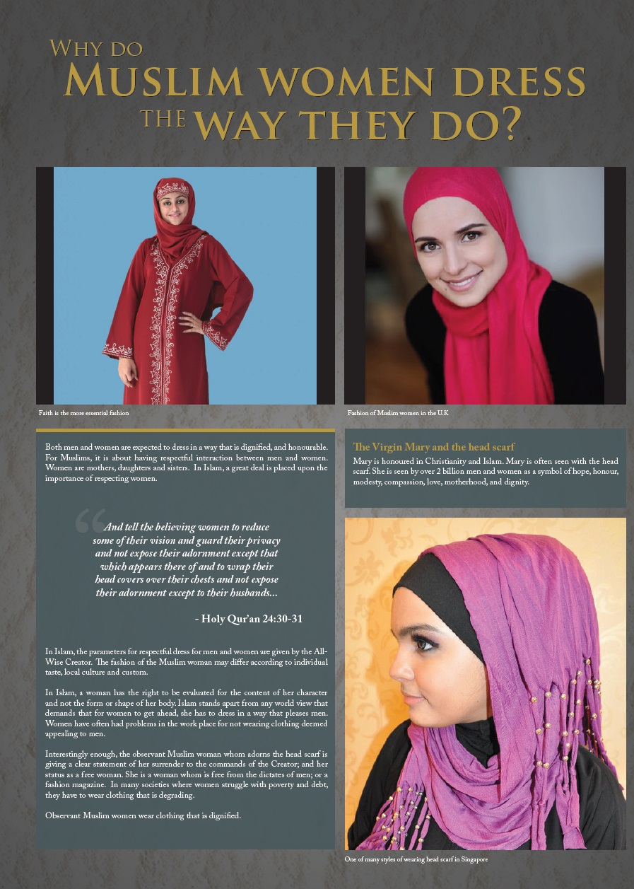 Does the Qur'an dictate what Muslim women should wear?
